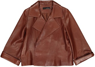 Amanda Wakeley Brown Leather Jacket for Women
