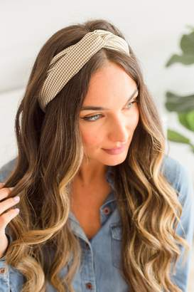 The Mint Julep Boutique More Than Love Brown Plaid Headband