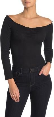 Cotton On Riley Off-the-Shoulder Ruche Bodysuit