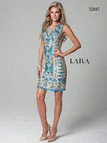 Lara Dresses - 32887 Dress In Champagne Turquoise