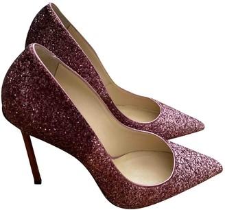 Jimmy Choo Anouk Purple Glitter Heels