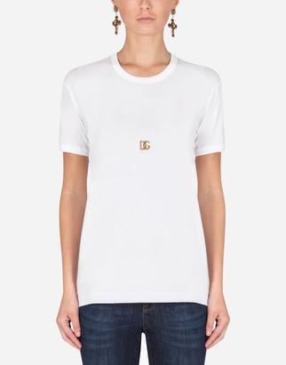Dolce & Gabbana Short-Sleeved Jersey T-Shirt With Logo