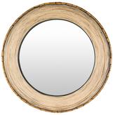 Surya Woodlands Round Mirror