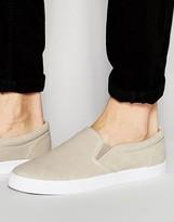 Asos Slip On Sneakers in Stone