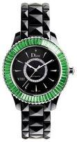 Christian Dior VIII Diamond, Tsavorite & Black Ceramic Bracelet Watch
