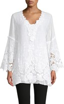 Saks Fifth Avenue Floral Lace Bell-Sleeve Tunic