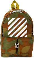 Off-White diagonal stripe print camouflage backpack - men - Polyester - One Size