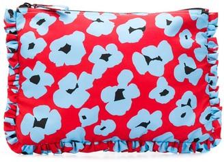 La DoubleJ Flower Leopard pouch