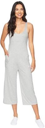 Hurley Sandy Rib Jumpsuit (Grey Heather) Women's Jumpsuit & Rompers One Piece