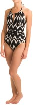 LaBlanca La Blanca Night Waves Hi-Neck Halter Mio Swimsuit - Removable Cups (For Women)