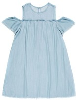 Tractr Girl's Cold Shoulder Chambray Dress