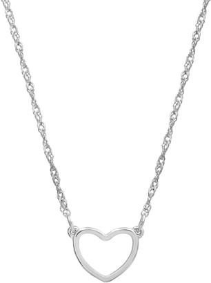 Lauren Conrad Silver Tone Heart Necklace