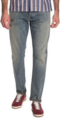 Nudie Jeans Fearless Freddie Scribble Slim Fit Jeans