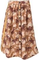 Coach horse print buttoned skirt