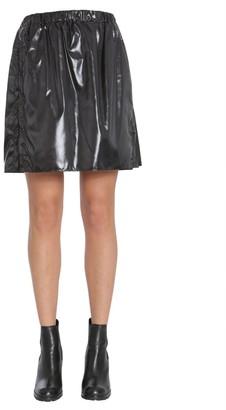 Kenzo Vinyl A-Line Skirt