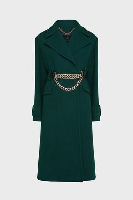 Karen Millen Chunky Chain Wool Coat