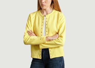 agnès b. Rosana Cotton Cardigan - cotton   1   honey - Yellow/Yellow/Honey