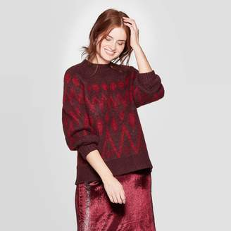 A New Day Women's Fair Ise Print Crewneck Puover Sweater