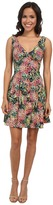 Nicole Miller Pina Crepe V-Neck Tank Dress