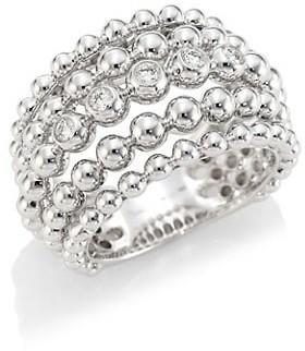 Hueb Bubbles 18K White Gold & Diamond Statement Ring
