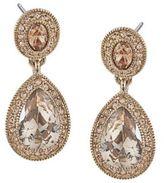 Carolee Gold-Tone Topaz Crystal Drop Earrings