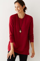 J. Jill Pure Jill Soft Knit Shirred-Back Tunic