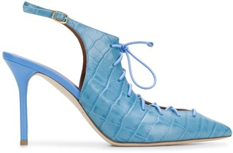 Malone Souliers Alessandra 95mm lace-up pumps