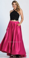 Dave and Johnny Two Piece Rhinestone Embellished A-line Prom Dress