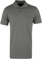 Boss Parlay 06 Olive Green Tipped Short Sleeve Polo Shirt