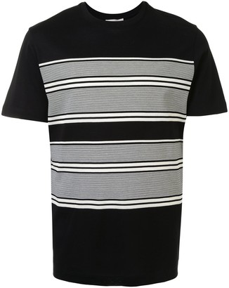 Cerruti crew neck striped print T-shirt