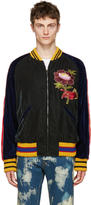 Gucci Multicolor Velvet Bomber Jacket