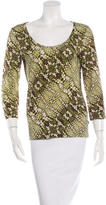 Just Cavalli Abstract Print Scoop Neck Top