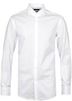 Boss Jason White Patterned Slim Fit Shirt