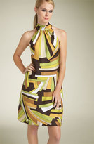 MICHAEL Michael Kors Geometric Print Silk Dress