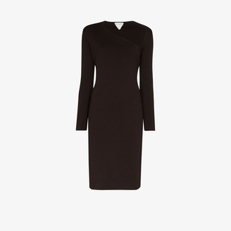 Bottega Veneta Knitted Bodycon Midi Dress