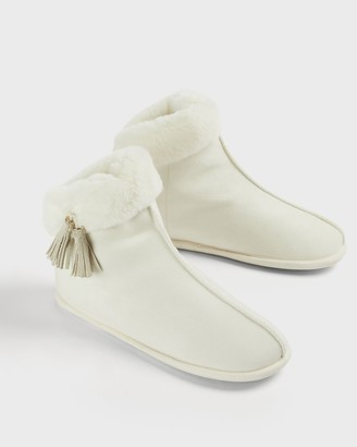 Ted Baker Faux Fur Slipper Boots
