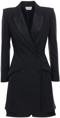 Alexander McQueen Light Wool Blend Jacket Mini Dress