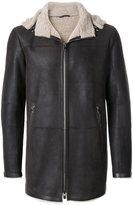 Drome shearling zip up coat