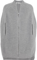 McQ by Alexander McQueen Ribbed Wool Cape - Gray