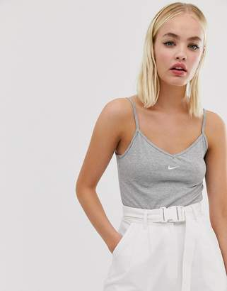 Nike grey mini swoosh bodysuit
