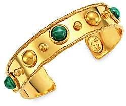 Sylvia Toledano Women's Stone Massaï 22K Yellow Goldplated & Malachite Cuff