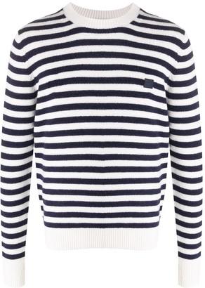 Acne Studios Face striped crew neck jumper