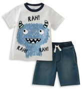 Kids Headquarters Baby Boys Monster Tee and Shorts Set