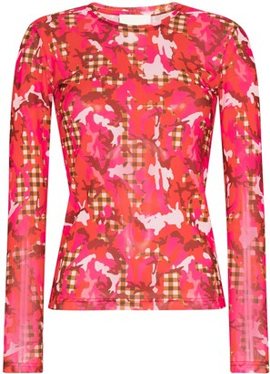 Molly Goddard Floral-Print Top