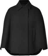 Jil Sander Navy Wool Coat in Black