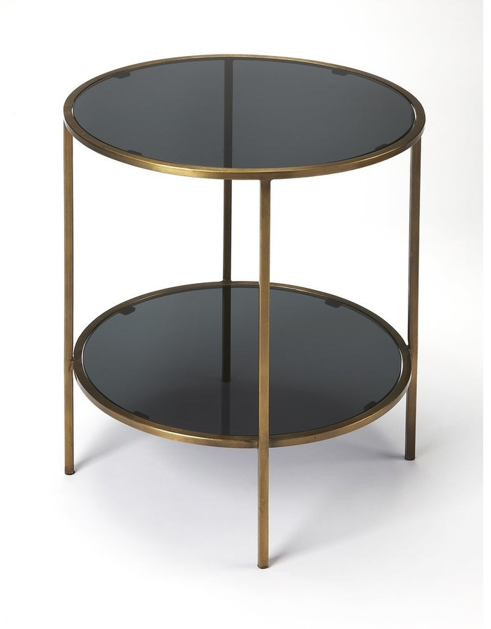 Thumbnail for your product : Butler Handmade Roxanne Iron and Glass End Table