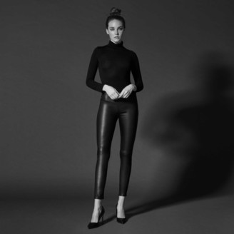 DSTLD Leather Leggings in Black