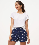 LOFT Zebra Riviera Shorts with 4 Inch Inseam