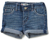 Levi's Baby Girls 12-24 Months Summer Love Heart-Pockets Stretch Denim Shorty Shorts