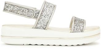 MICHAEL Michael Kors Peggy Glittered Leather Sandals